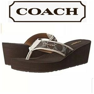 Coach Jolene Wedge Post Toe Sandals